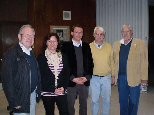 From left: Ambassador Dr. Peter Moser, Dr. Christina Antenhofer & Dr. Andreas Oberhofer, University of Innsbruck, Dr. Günter Bischof (Center Austria), and Dr. Allen Millett (Eisenhower Center for American Studies)