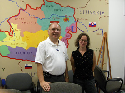 Pictured: Dr. Carl Drichta, Dean of Metropolitan College and Petra Rabitsch