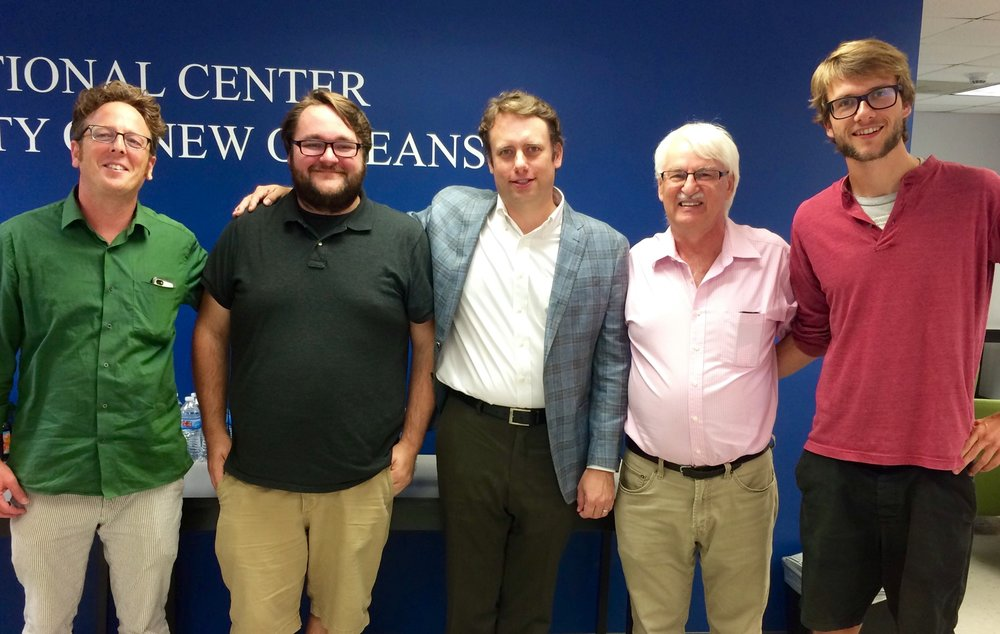 From left: Abram Himelstein, GK Darby (UNO Press), Thomas (GA/UNO Press), Professor Günter Bischof, Tobias Auboeck (Austrian Ministry of Science Fellow )