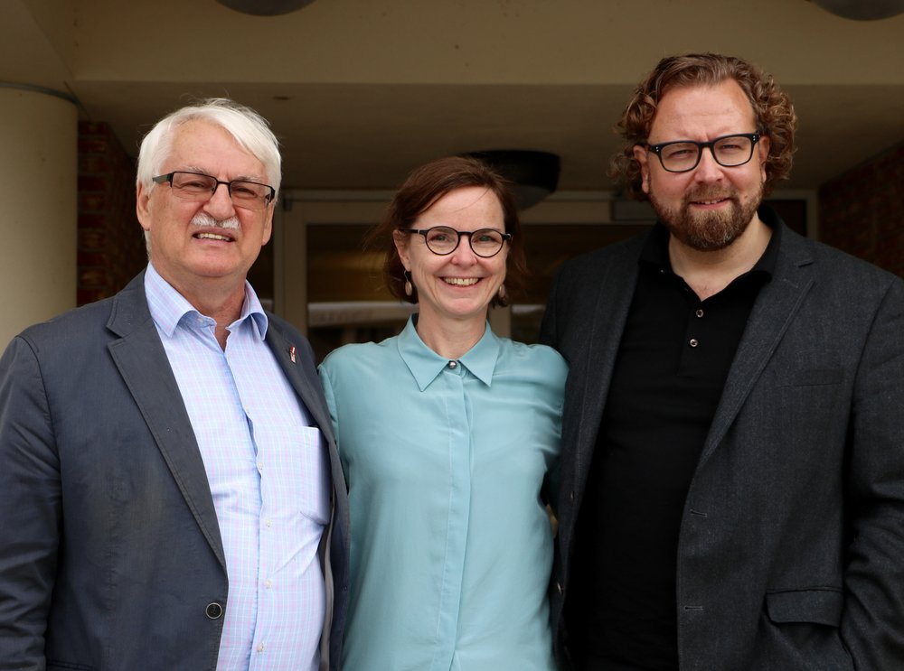 From left: Günter Bischof, Director, Doris Eibl, Visiting Professor at UNO, Dirk Rupnow, guest lecturer. Photo: Theresa Peischer