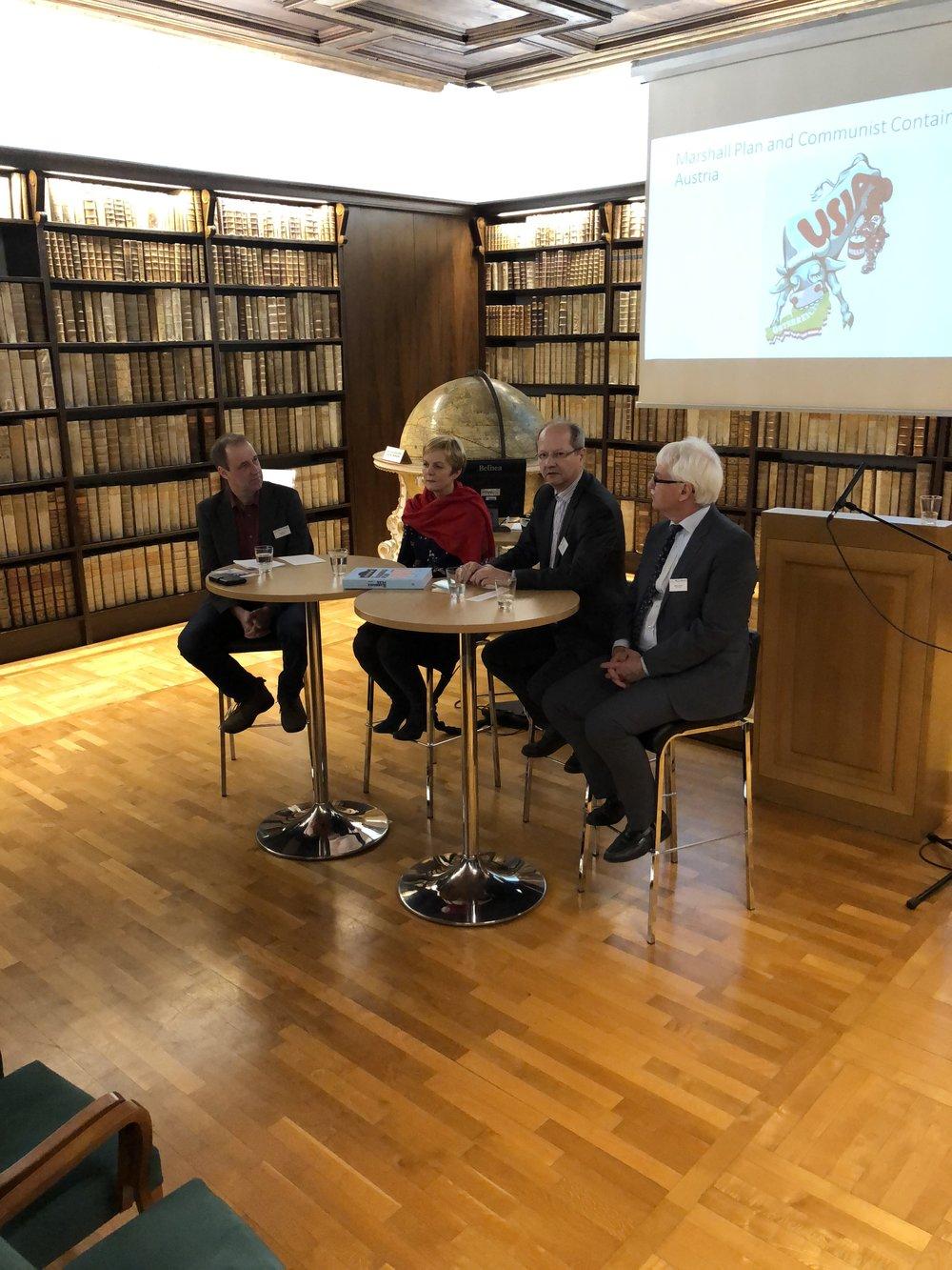 From left: Ewald Hiebl, Maria Fritsche, Hans Petschar, Guenter Bischof