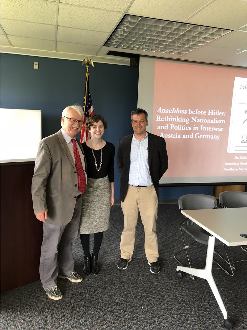 From left: Dr. Günter Bischof, Dr. Erin Hochman, Dr. Marc Landry.