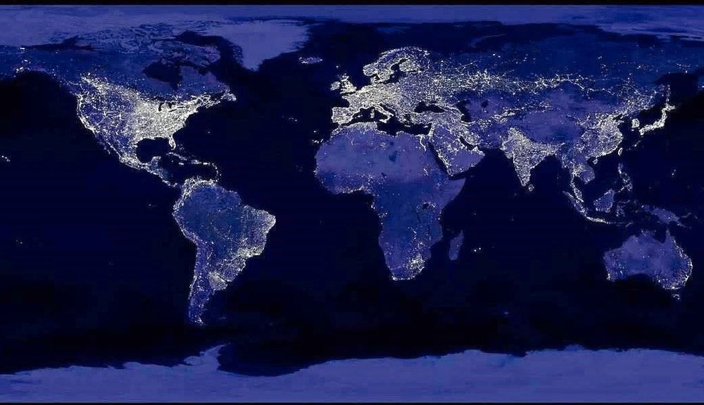 Image Credit:Earth at Night, NASA/NOAA 2009