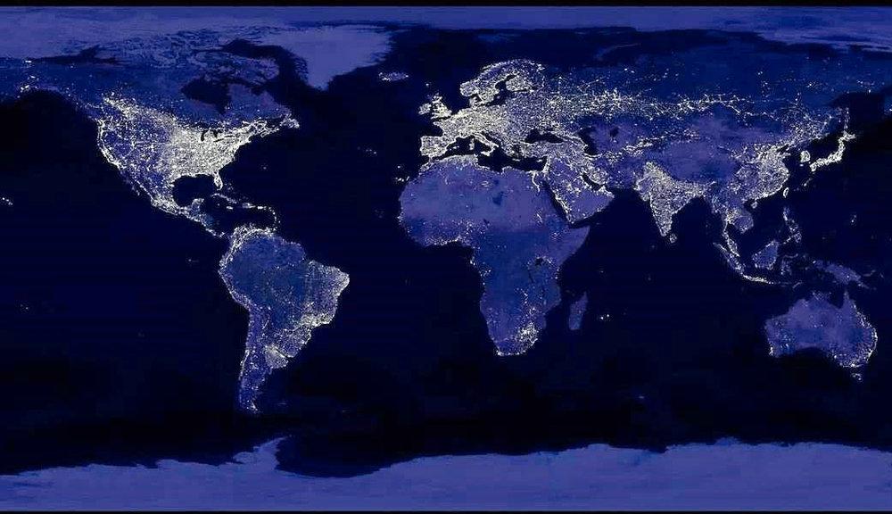 Image Credit:Earth at Night, NASA/NOAA 2009