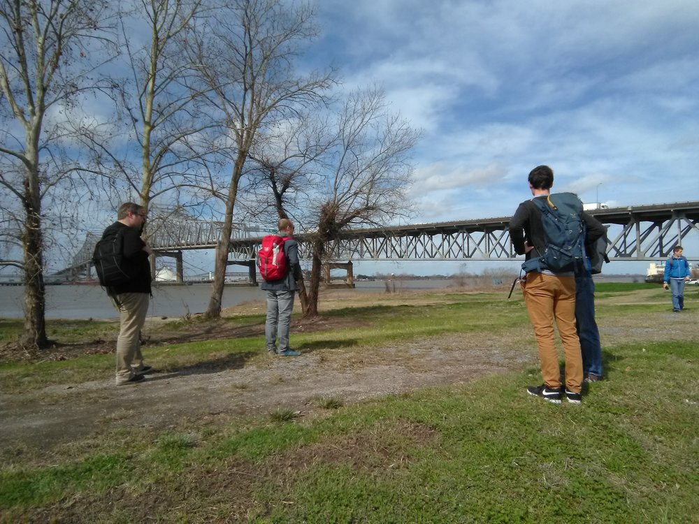 Innsbruck engineers at the Mississippi River Bridge in Baton Rouge, Louisiana.