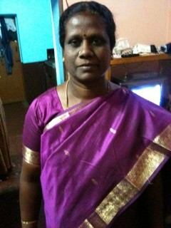alphonsa in her purple sari