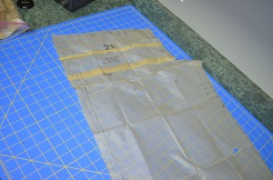 Front pattern piece alterations