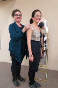 My Classmate Mara fitting Vanna in a princess seam