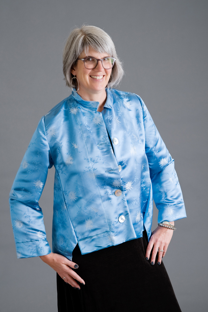 Here is the finished silk jacket. Photo by Andrea Jones.