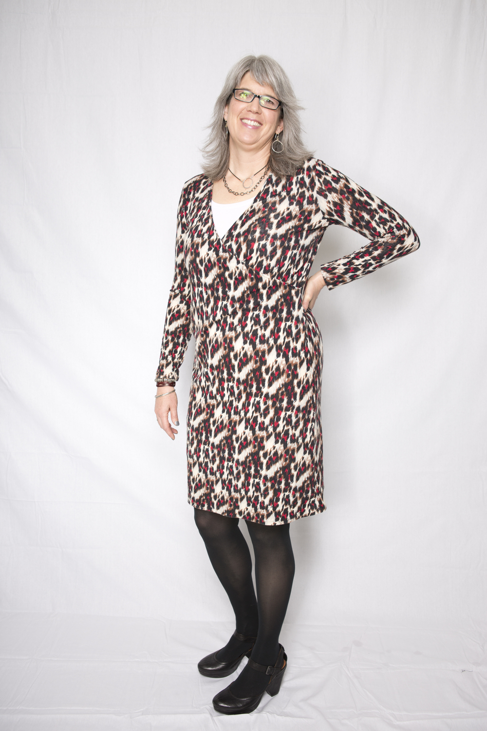 Version 1 of Slip on Suzie in a leopard print. Treehouse Photography Photo.