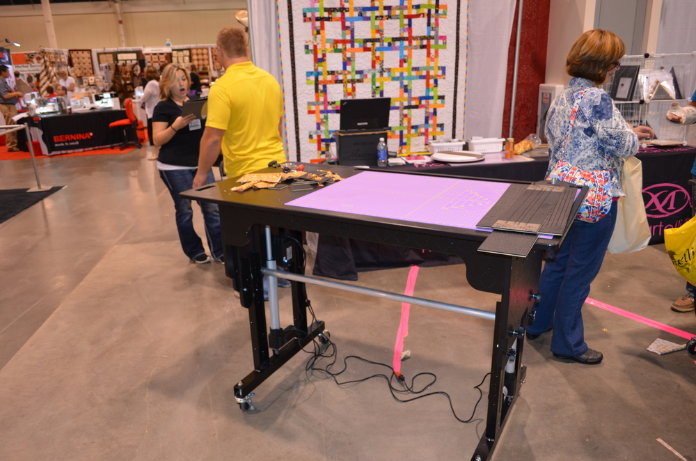 Here is the display at the American Sewing Expo. What a handsome table!