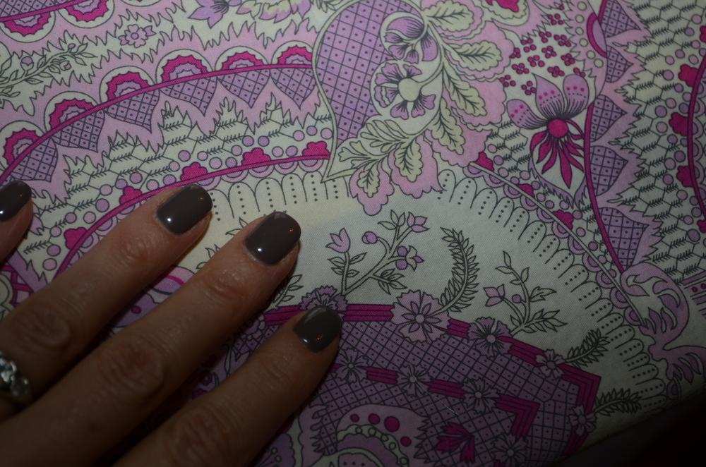 Princess fabric and princess nails for a princess top!