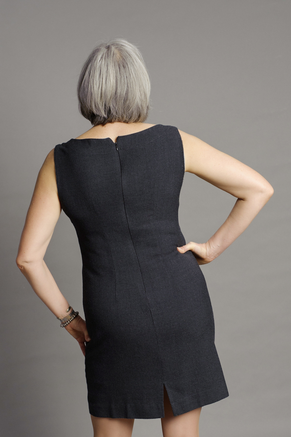 And the back. I will definitely be making this dress out of springier fabric soon. Photo by Andrea Jones.