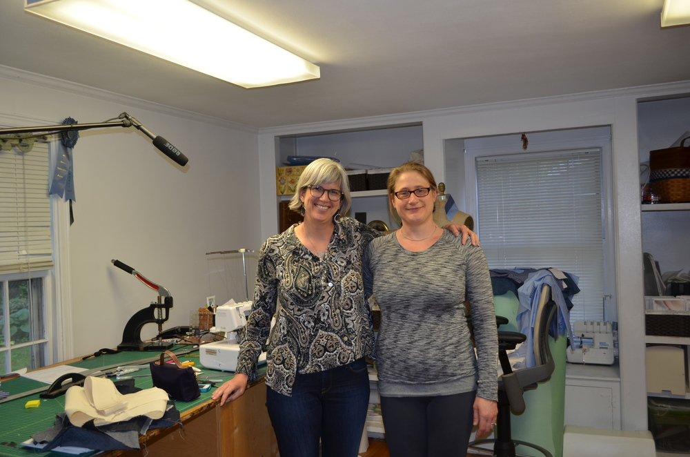 Me and Jen in her Connecticut sewing studio.