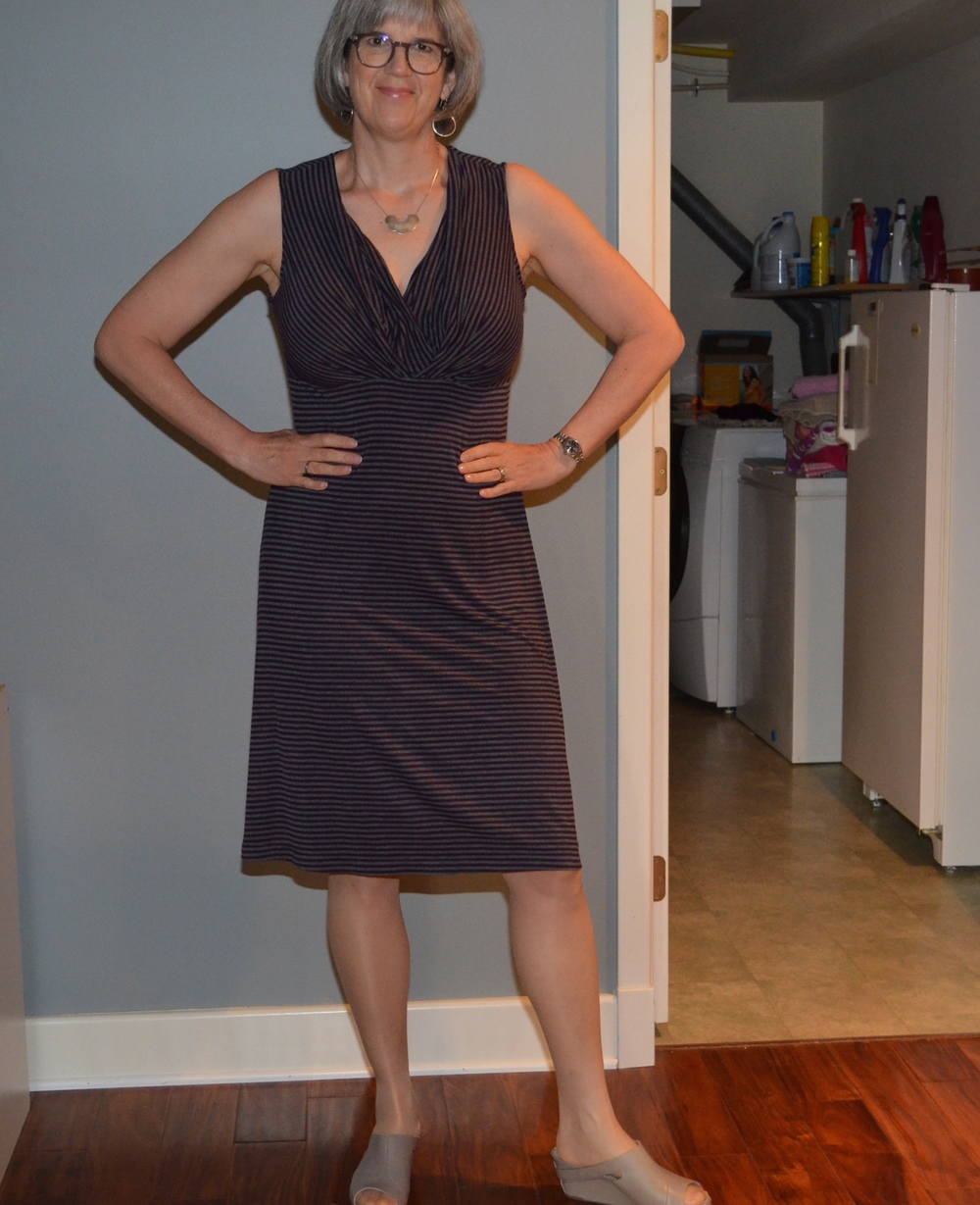 New favorite striped Santa Fe dress with tan shoes?
