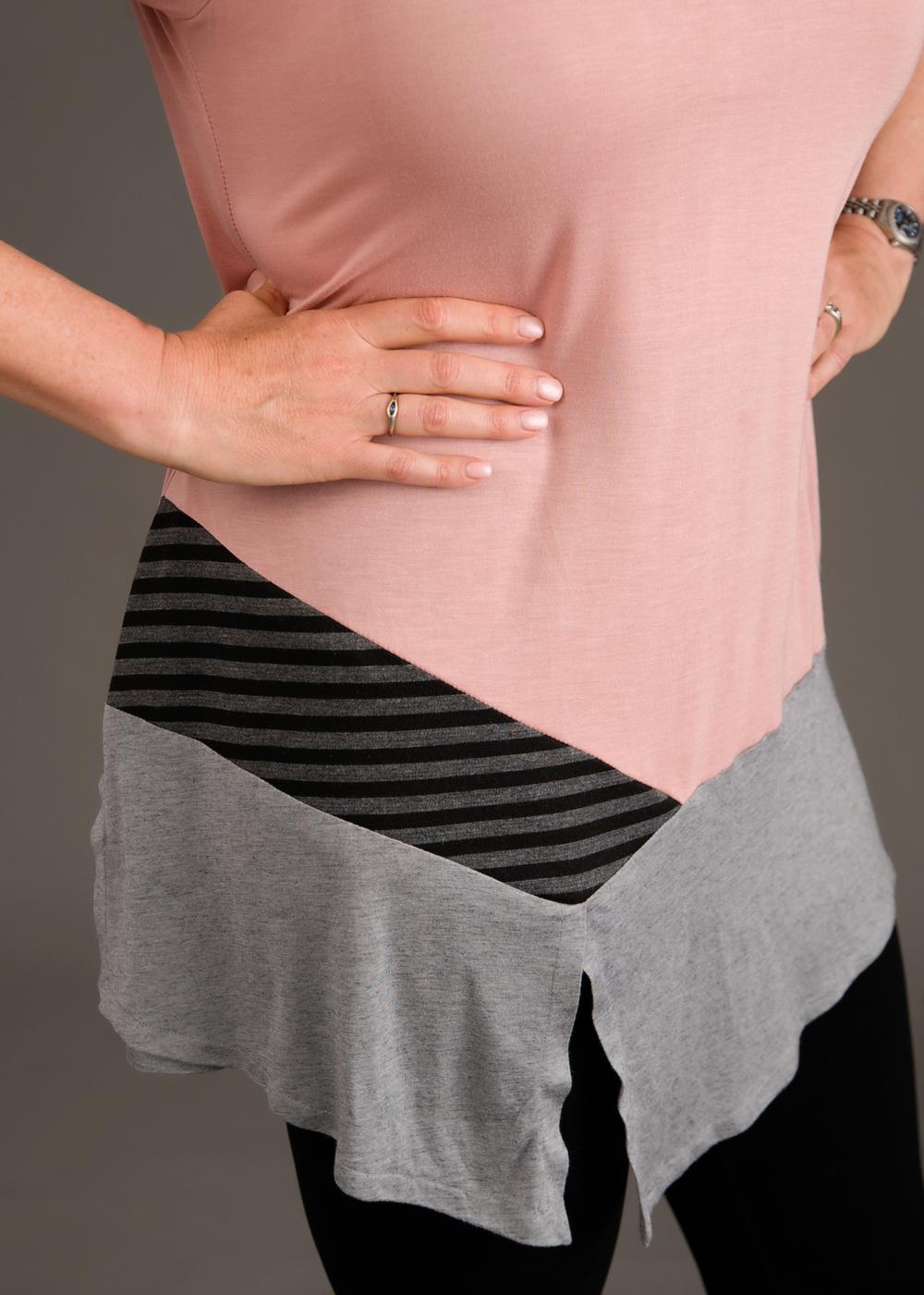 Close-up of the three fabrics. Photo by Andrea Jones.