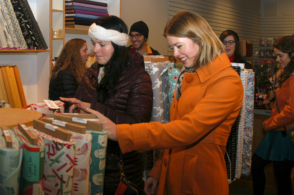 Lovely Jane (in an orange coat) will be my full-time employee starting December 1. Photo by Sahra Susman.