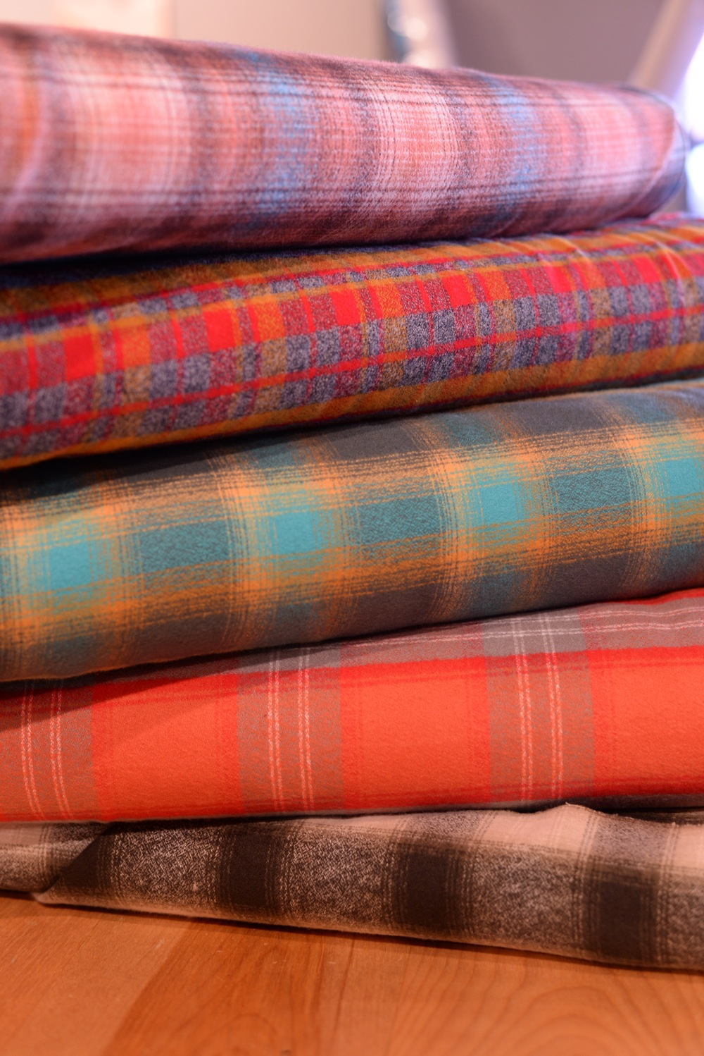 Robert Kauffman's plaid flannels are cozy and come in lots of colors!