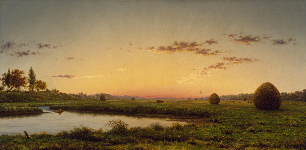 "Martin Johnson Heade - ""Haystacks on the Newburyport Marshes"""