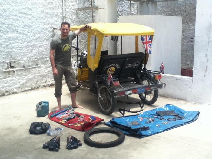 Team One for every Mile, with the array of mechanical failures on their mototaxi