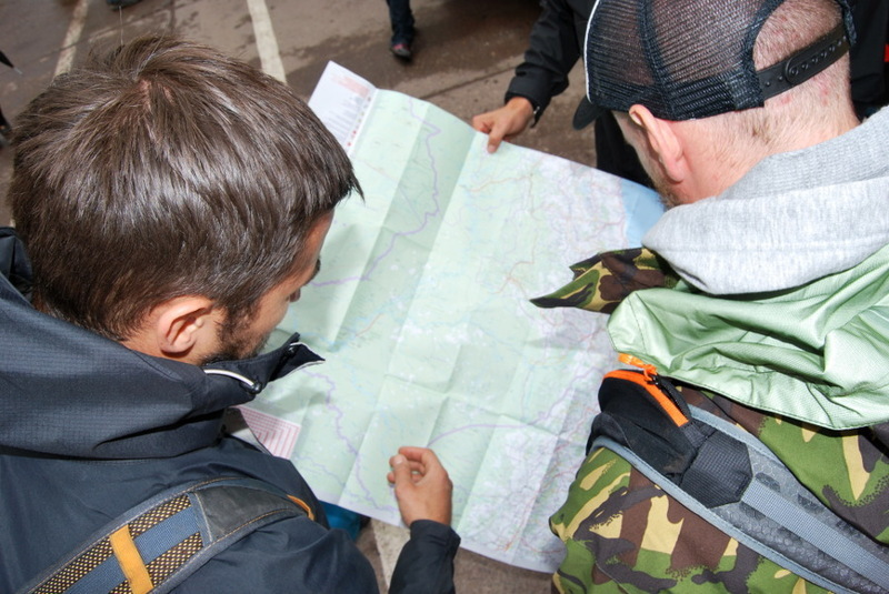 They might look like they know what they are doing; but that map is upside down