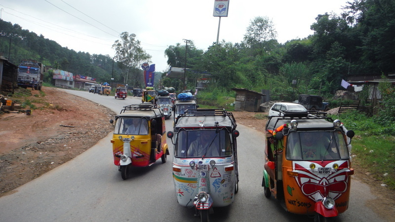 Teams thundering forth from Shillong on their 300km odyssey