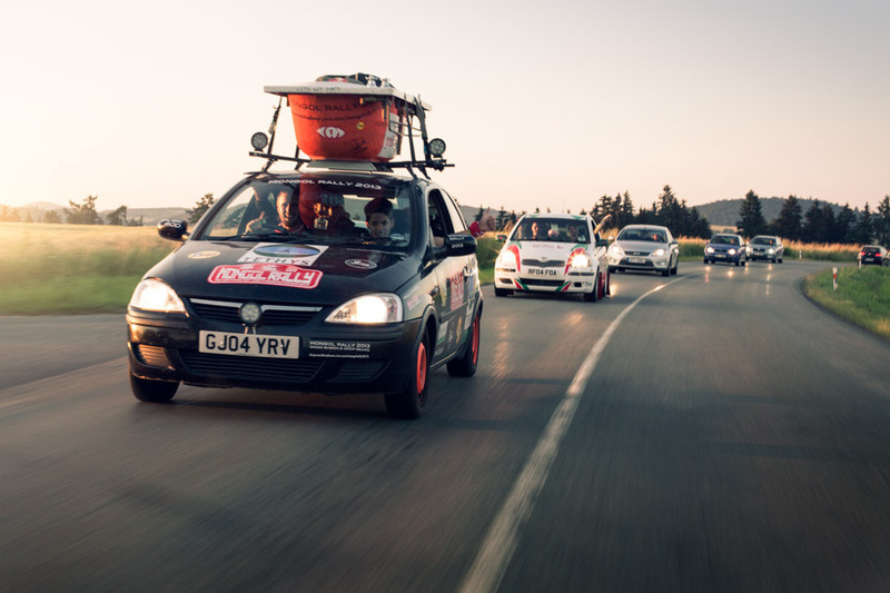 Mongol Rally convoy - Europe