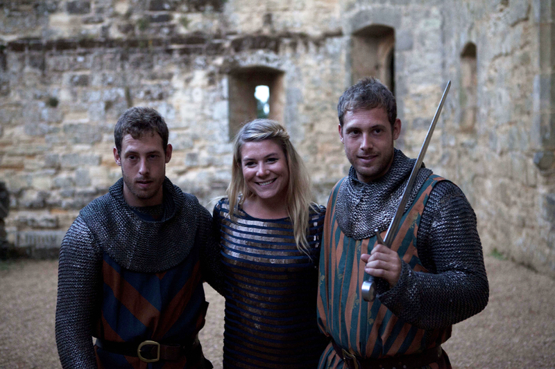 All the ladies love a chap in chain-mail, even at a black tie event