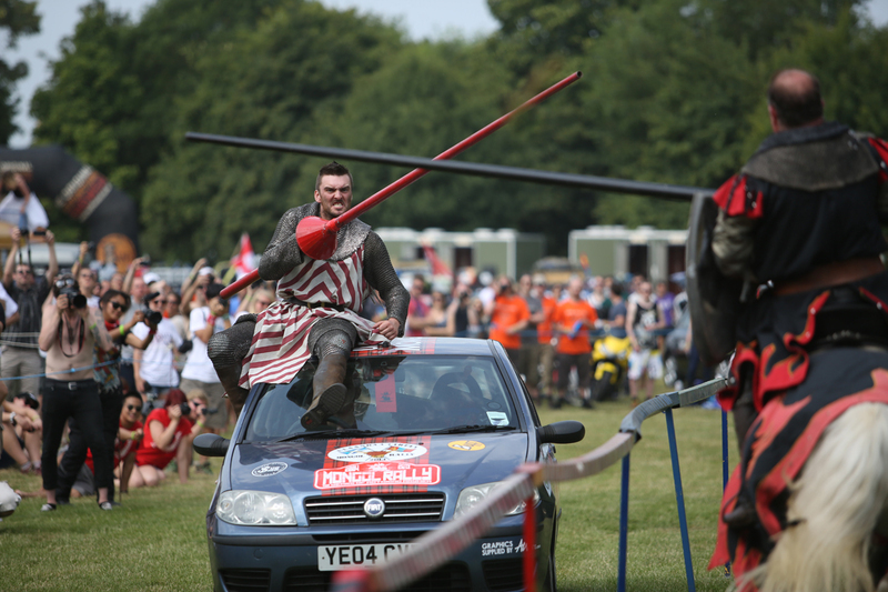 Mongol Rally 2013 UK launch jousting
