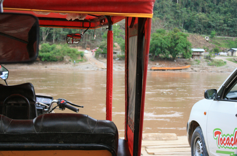 Taking a ferry across the Amazon