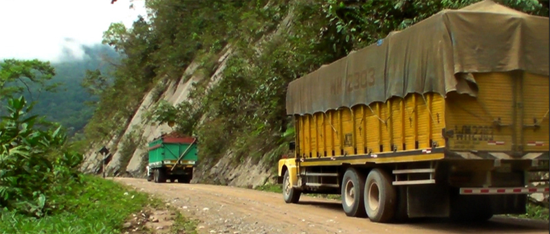 Ruddy great trucks are just one of the hazards of the roads