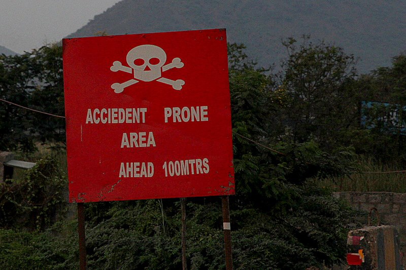 The team saw quite a few signs with a similar message across India: