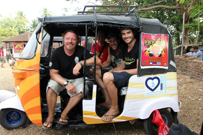 The team met Charlie Boorman who was filming a TV show at the launch of the Run in Cochin, Kerala: