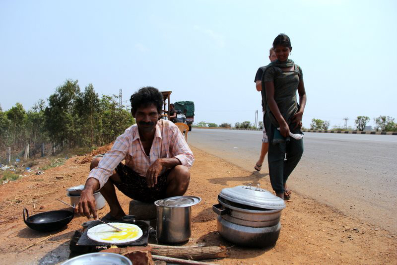 Roadside egg dosa: