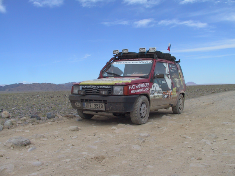 The 1st generation Fiat Panda, rocking the Mongol Rally since 2004