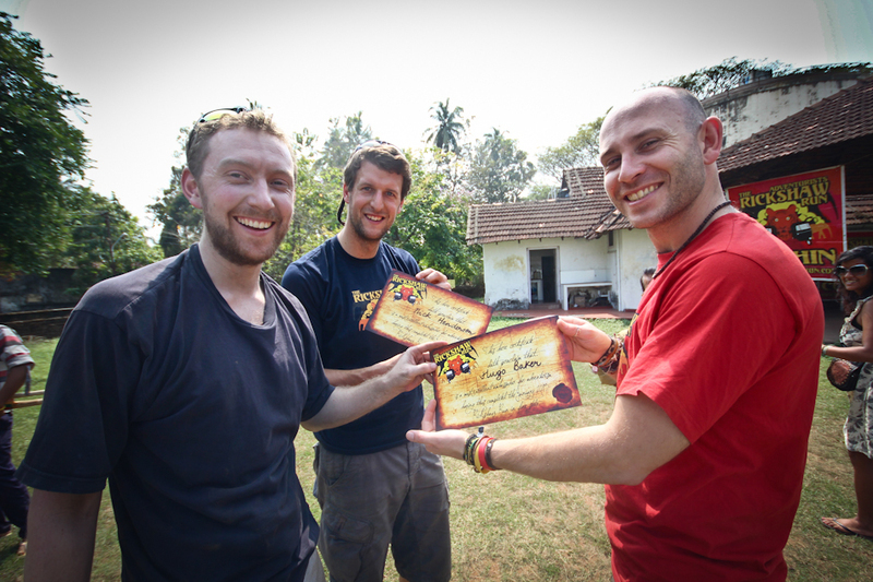 UK team Always Wear Protection receive their certificates from Mr. Matt.