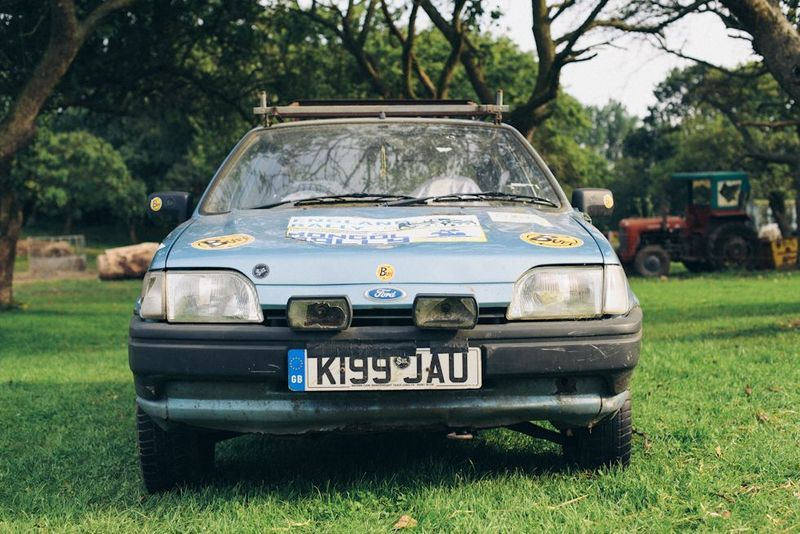 The trusty Fiesta who made it all possible.