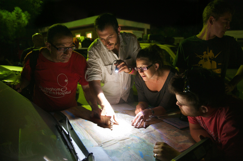 Route planning by torchlight