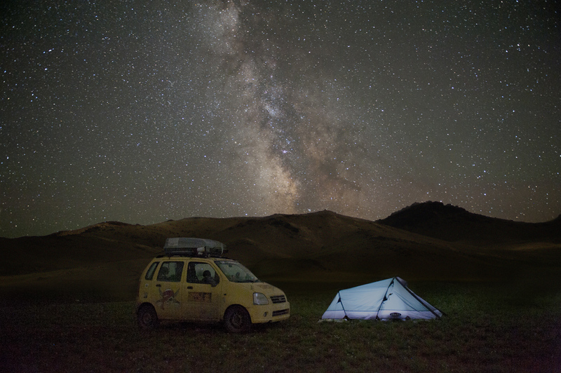 Mongolia, camping under the Milky Way