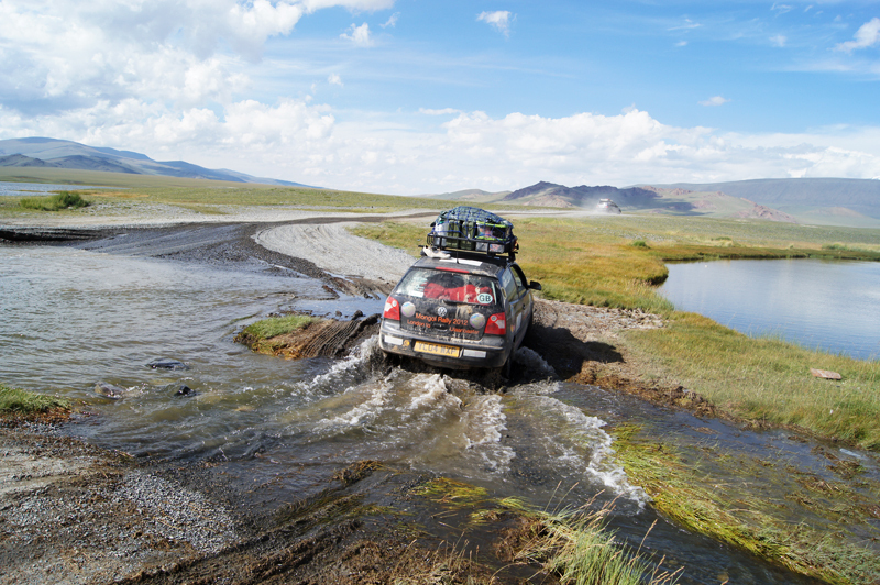 The sound German engineering of their 8 year old Polo is a fair match the the Mongolian steppe
