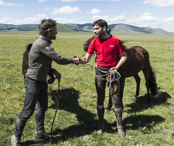 What you look like after 1000km on horseback as Donal and Barry cross the line together