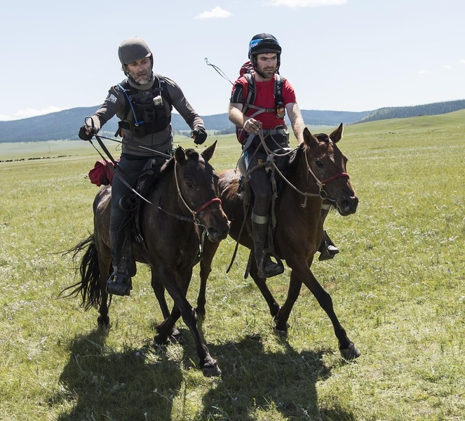 First to cross the line of the Mongol Derby 2012