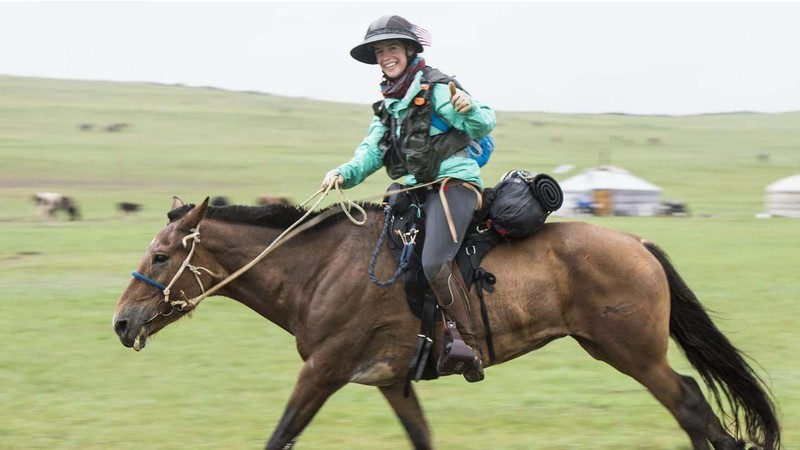 Julie Youngblood on leg 2 of the Mongol Derby: