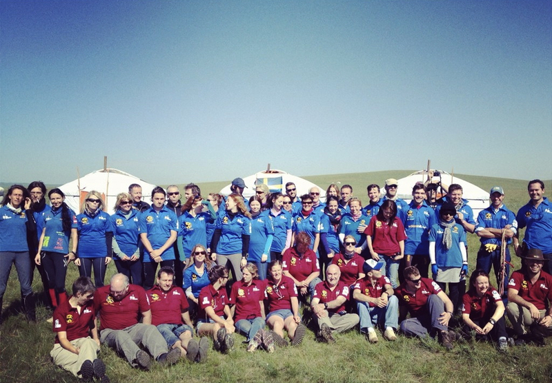 Mongol Derby 2012 riders and crew - photo by Joey Dawson