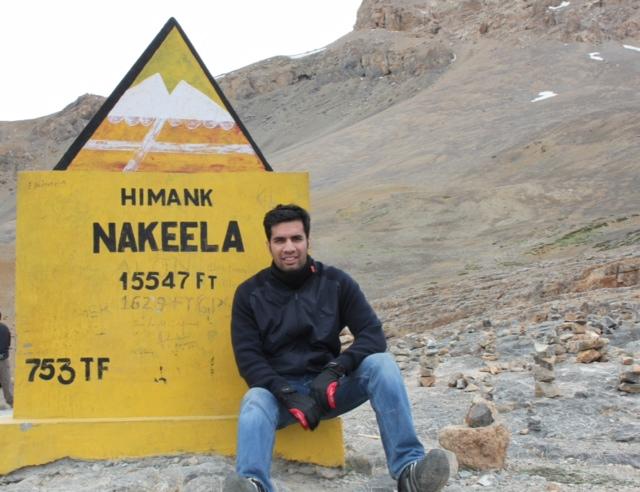 Karan on the Nakeela Pass