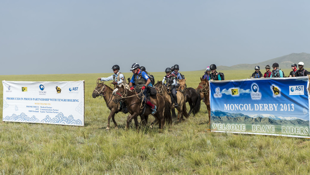 Start of the Mongol Derby, 4th August 2013