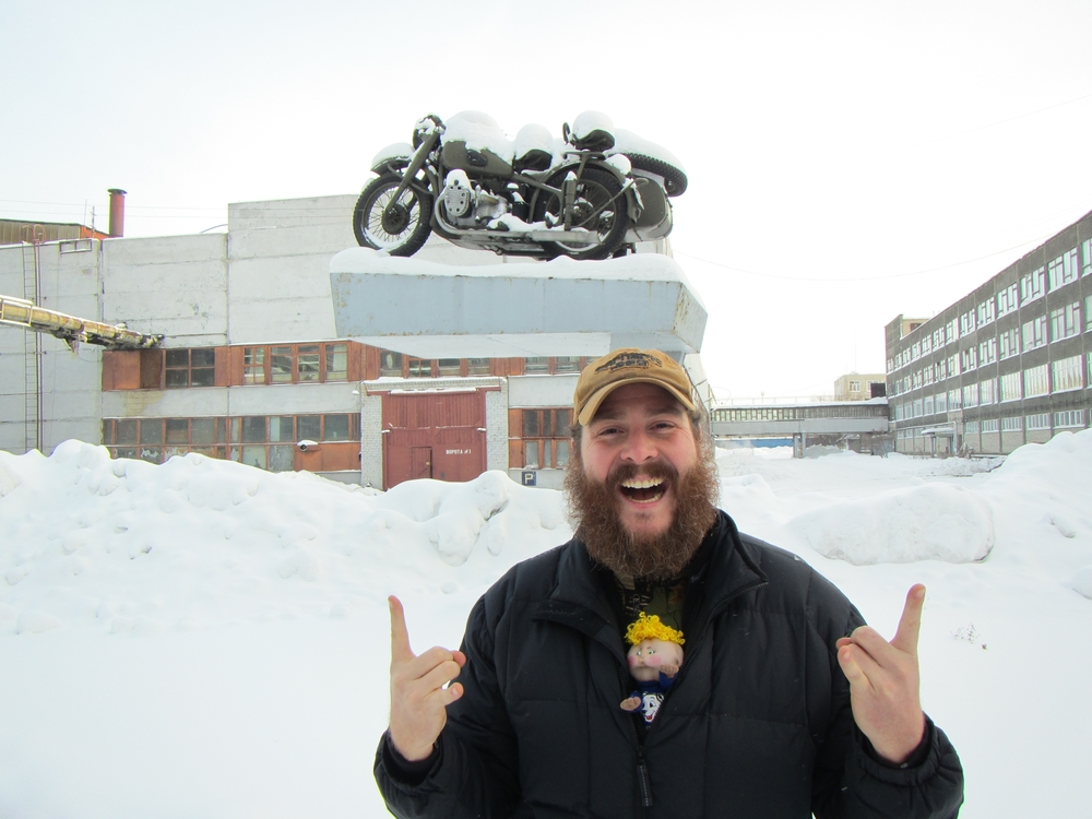 Chris Plough loving the Ural Factory