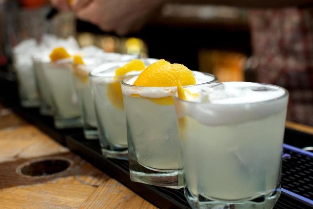 Pisco Sours, the delicious Peruvian national drink