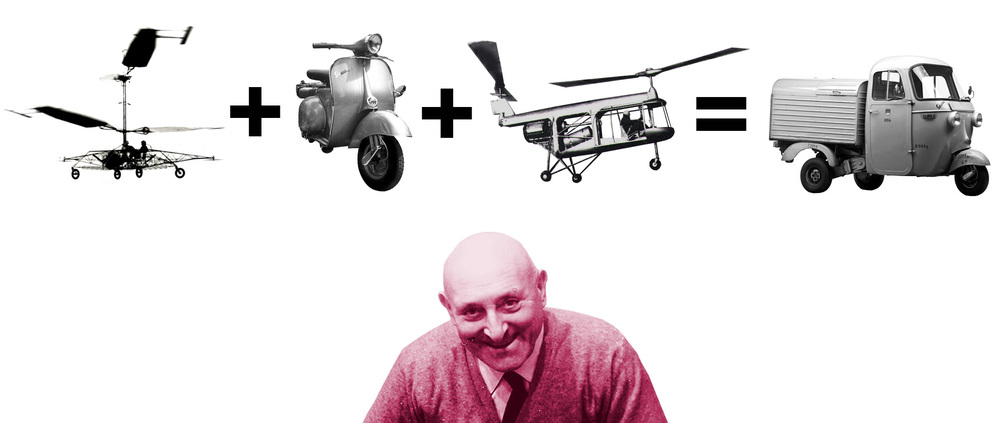 Corradine D'Ascanio - Father of the Auto Rickshaw - Laughing in your face for thinking about crossing India in one