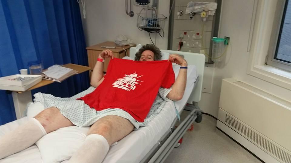 David in hospital...